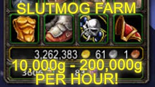 World of Warcraft AQ 20 Slutmog Transmog Farm 10,000 - 200,000 Gold [WoW Legion Gold Farming Guide]