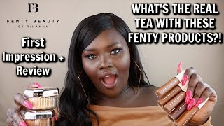 NEW FENTY BEAUTY PRO FILT'R CONCEALERS & SETTING POWDERS ON DARK SKIN+ THE DEEPEST 8 SHADES