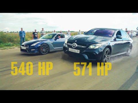 GTR НЕ ОЖИДАЛИ! ПРЫГАЮЩИЕ Mercedes 63 AMG  против Nissan GTR и ЛЮТЫЙ SUBARU WRX STI