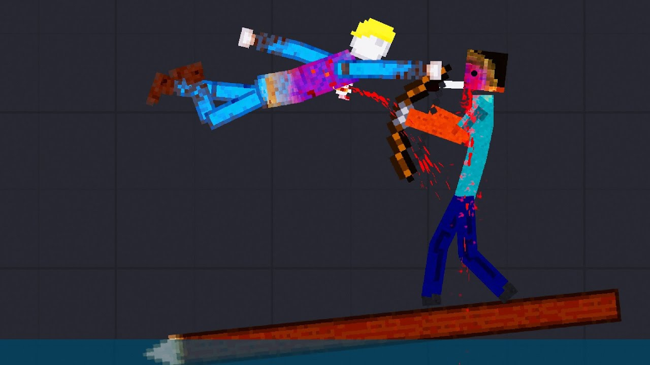 Minecraft Fighting Each Other At Sea / People Playground Gameplay