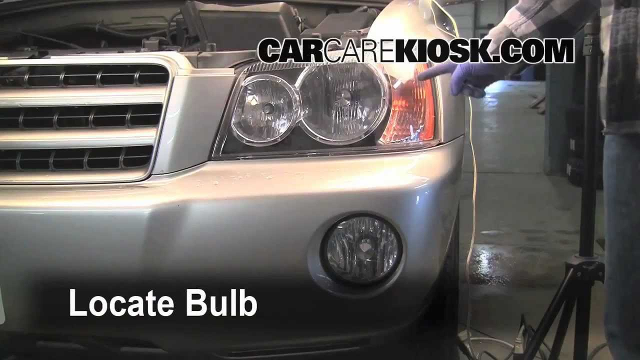 small resolution of toyota highlander 2001 2007 lights replacement how to preview youtube