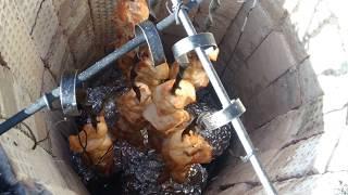 сочный шашлык из курицы в тандыре можно и на мангале проверенный способ