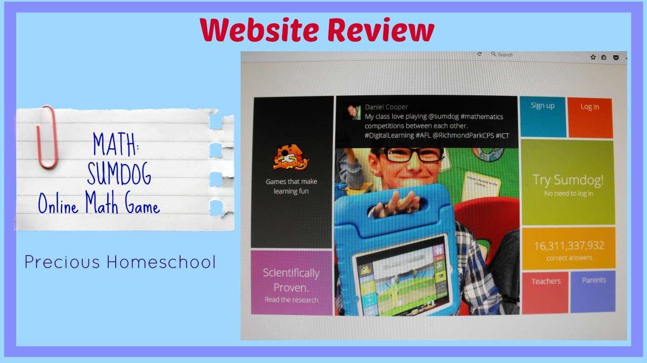 Website Review: Math: Sumdog-Online Math Game - YouTube