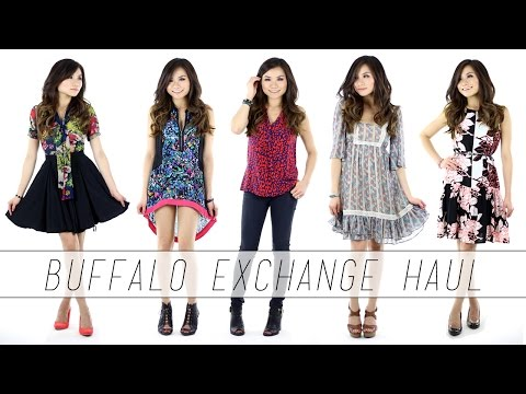TRY ON HAUL: Buffalo Exchange Thrift Shop   Miss Louie