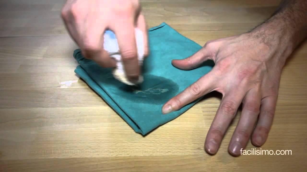 como sacar el pegamento super glue de la ropa
