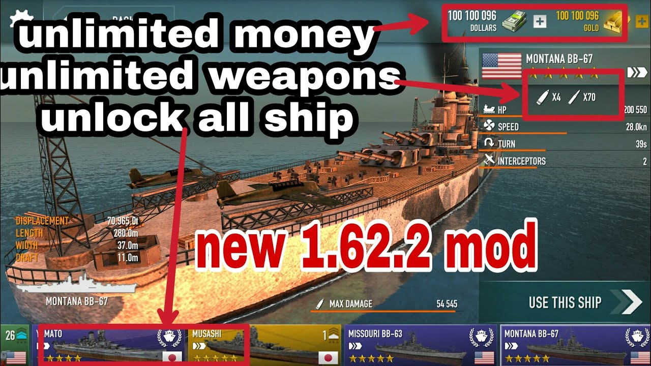 Battle of warships v1 62 2 Mod + Hack | Unlocked All Ship, Unlimited Coins |