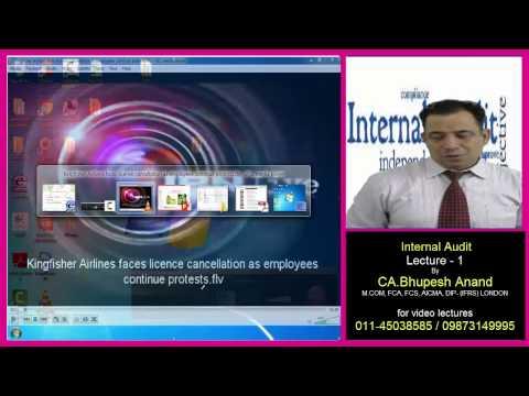 INTERNAL AUDIT lecture 1 part 1 CA / CMA /CS /B.Com /MBA/ BBA
