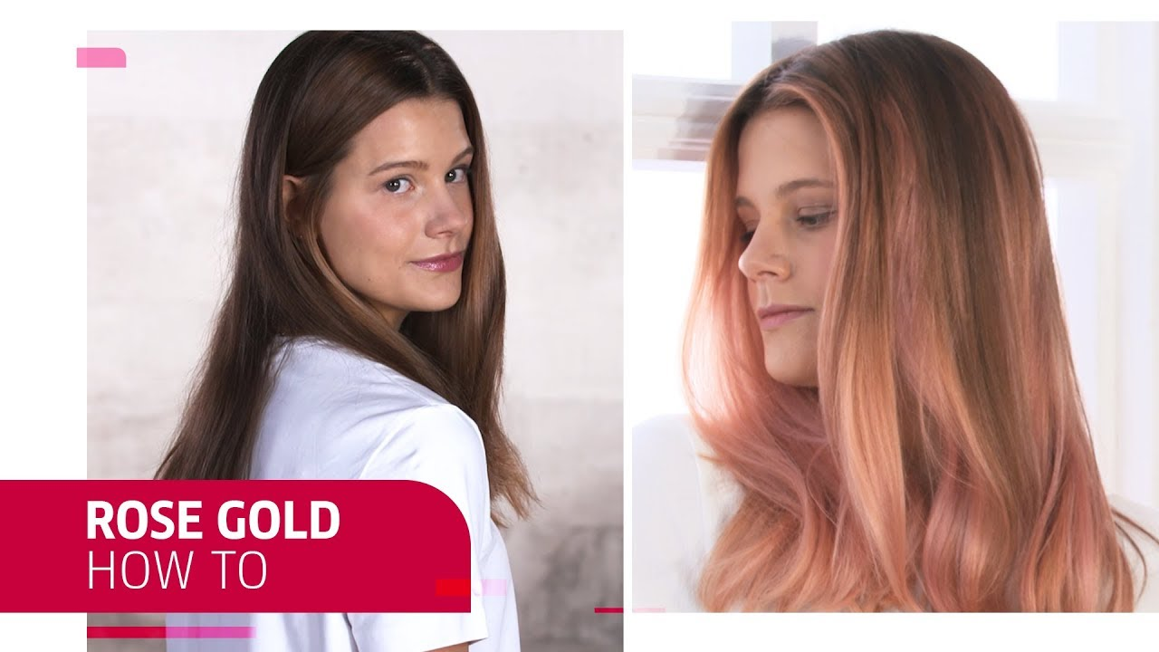 How To Get Rose Gold Hair Color Wella Professionals Youtube