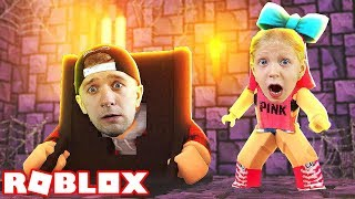 who we CLOSED at the Castle? Adventure Cartoon Hero ROBLOX from the Pope and Milana at FFGTV castle Escape obby