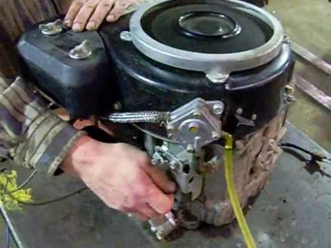 John Deere Gt242 Engine Kawasaki 14hp Youtube