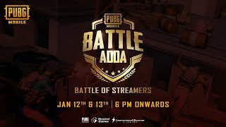 Battle Of Streamers | BATTLE ADDA (PUBG MOBILE)