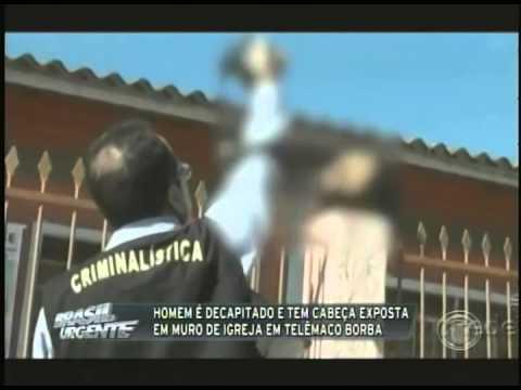 Homem é decapitado e tem cabeça exposta em muro de igreja em Telêmaco Borba (10/03)