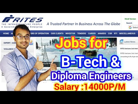 Jobs for Diploma & B-Tech Engineers 💥RITES LIMITED
