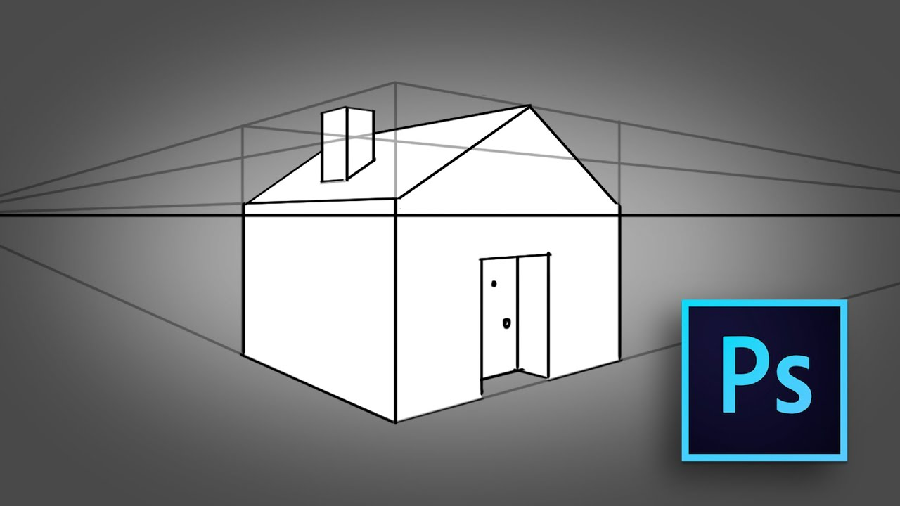 How To Draw A House In Two Point Perspective Photoshop