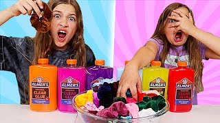 Colored Scrunchies Pick My Slime Ingredients Challenge! | JKrew