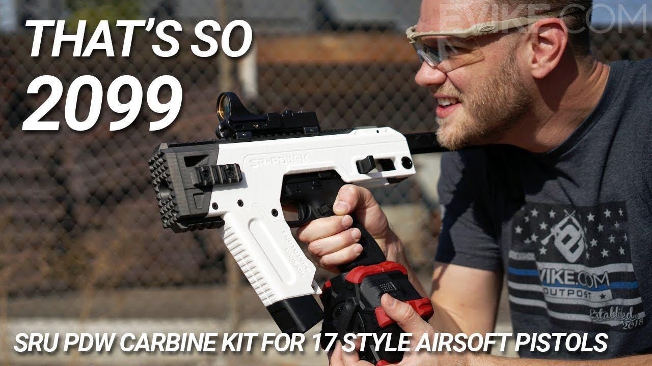 SRU PDW Carbine Kit for 17 Style Airsoft Pistols (Color: White / Tokyo  Marui Style)