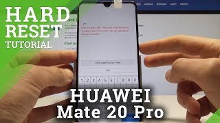 How to Bypass Screen Lock HUAWEI Mate 20 - Hard Reset / Wipe Data
