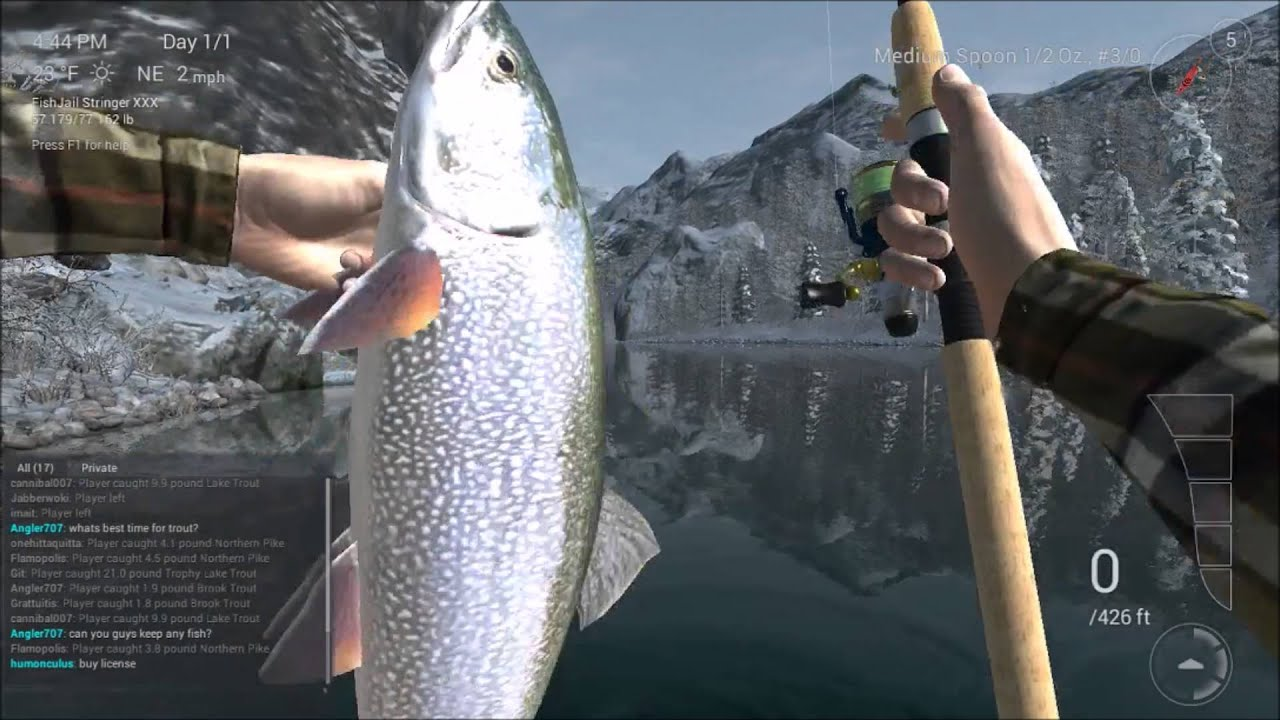 Fishing planet how to catch lake trout at white moose for How to catch fish in a lake