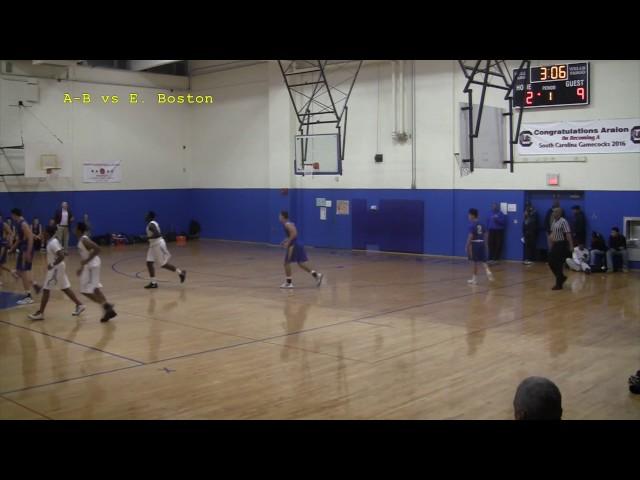 Acton Boxborough Varsity Boys Basketball vs East Boston 12 9 16