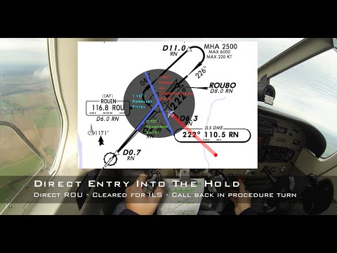 ✈ Direct Entry - IR holding pattern