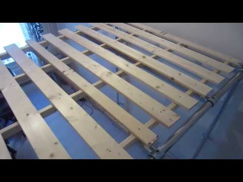 Building a loft bed out of steel pipe and clamps