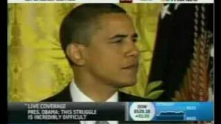 Obama Vs. Duck - Obama Gets His Speech Interrupted By A Duck Ringtone - Quack Quack