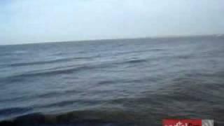 La bocana del río Jamapa en Boca del Río, Veracruz