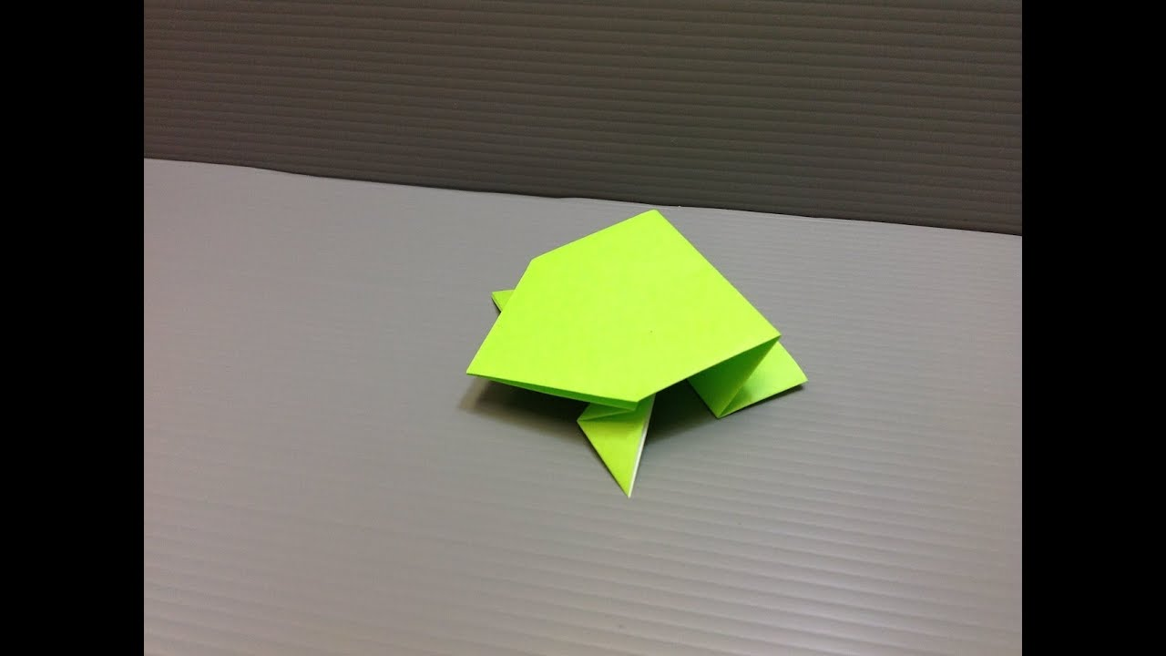 Daily Origami: 004 - Jumping Frog 02 - YouTube - photo#45