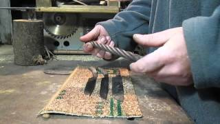 Нож из троса без флюса(Хочу поделиться своим способом ковки ножей из троса без применения флюса., 2015-12-21T11:03:18.000Z)