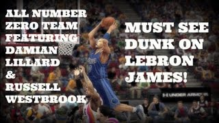 NBA2k13 | MyTeam Gameplay | All-Zero Team | MUST SEE DUNK