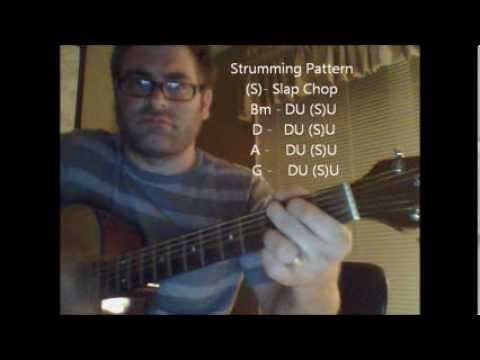 How to play Disturbia by Rihanna on acoustic guitar (Made Easy)