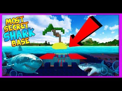 SECRET UNDERWATER SHARK BASE CHALLENGE! (Underwater most secure / secret shark base)