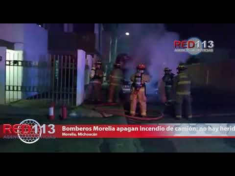 VIDEO  Bomberos Morelia apagan incendio de camión; no hay heridos