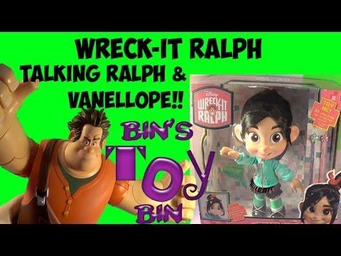 Disney Wreck-It Ralph HUGE Talking Vanellope & Ralph Figures Review! by Bin's Toy Bin
