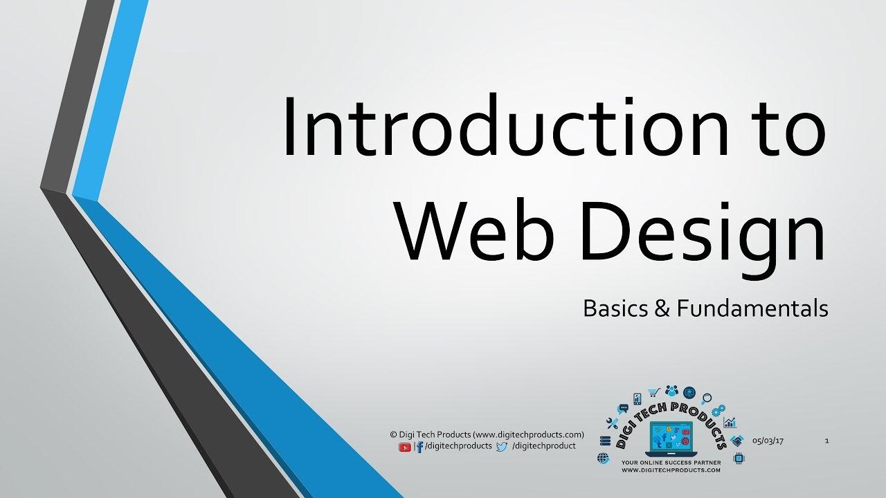 Introduction To Web Design Fundamentals Basics Youtube