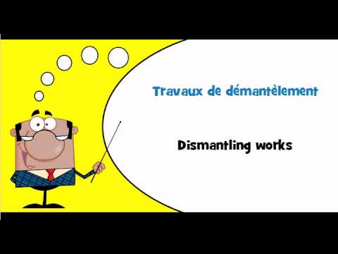 Learn French vocabulary # Theme # Construction work