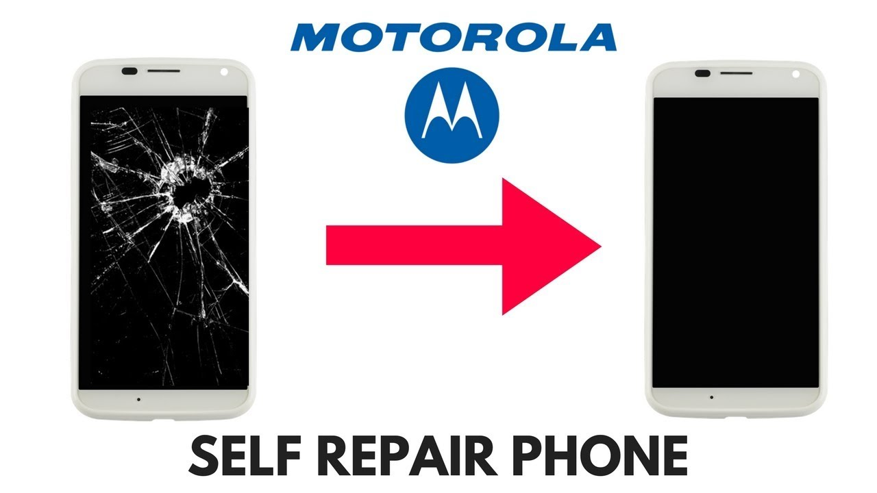 motorola self repair break broken screen healing phone full
