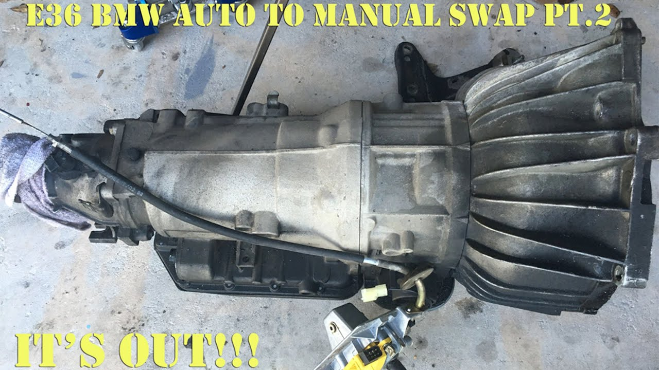 e36 bmw auto to manual swap pt 2 youtube rh youtube com bmw automatic manual bmw automatic manual