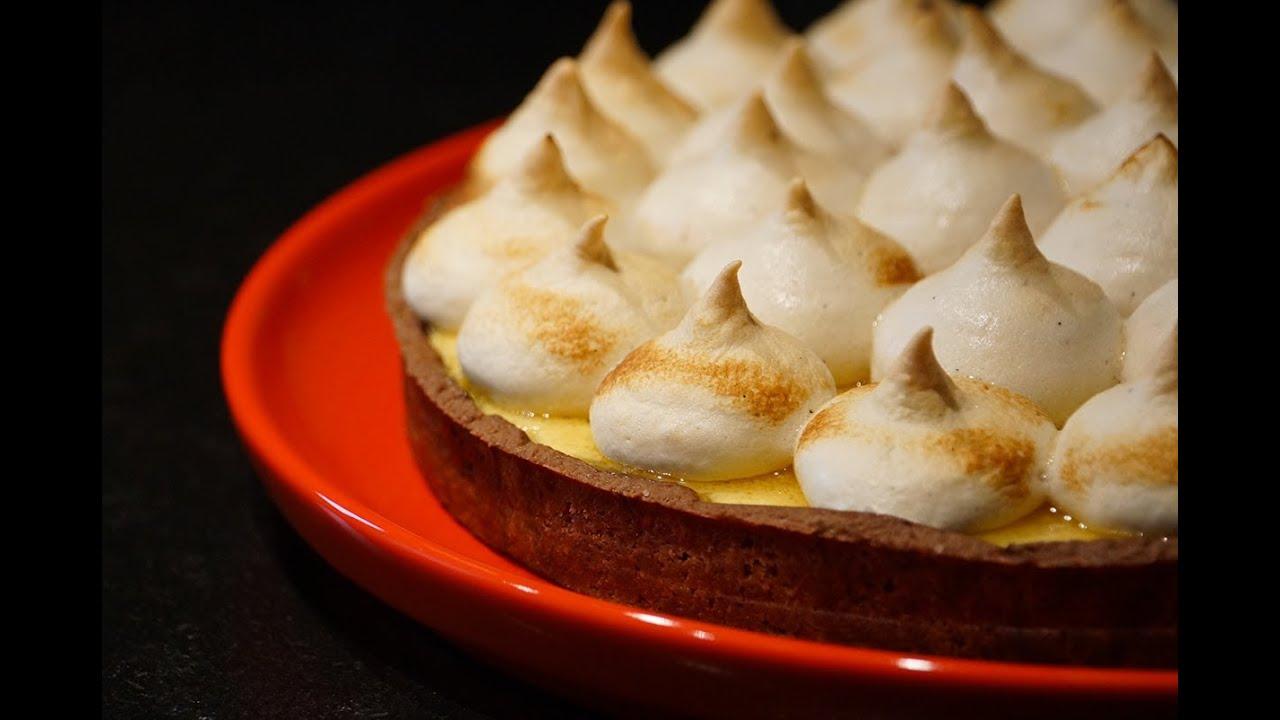 Tarte meringu e passion chocolat par herv cuisine youtube - Youtube herve cuisine ...