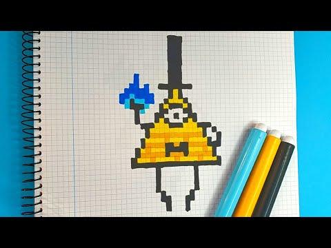 Como Dibujar BILL CIPHER de GRAVITY FALLS   Pixel Art Tutorial thumbnail
