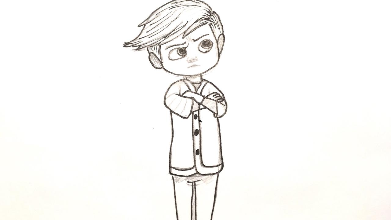 Cómo dibujar a Tim (El bebé jefazo - Un jefe en pañales) | How to ...
