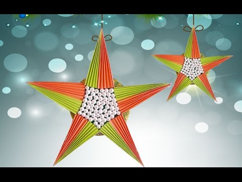 easy diy paper crafts you can make this cute paper star in just 5 min youtube. Black Bedroom Furniture Sets. Home Design Ideas