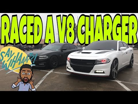 RACED A V8 DODGE CHARGER DID I WIN? **MUST WATCH**