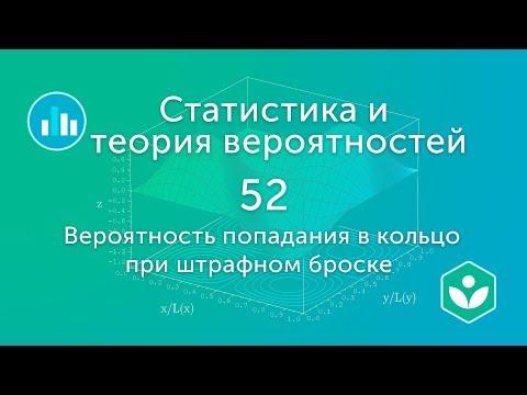 Вероятность попадания в кольцо при штрафном броске  (видео 52) | Статистика и теория вероятностей