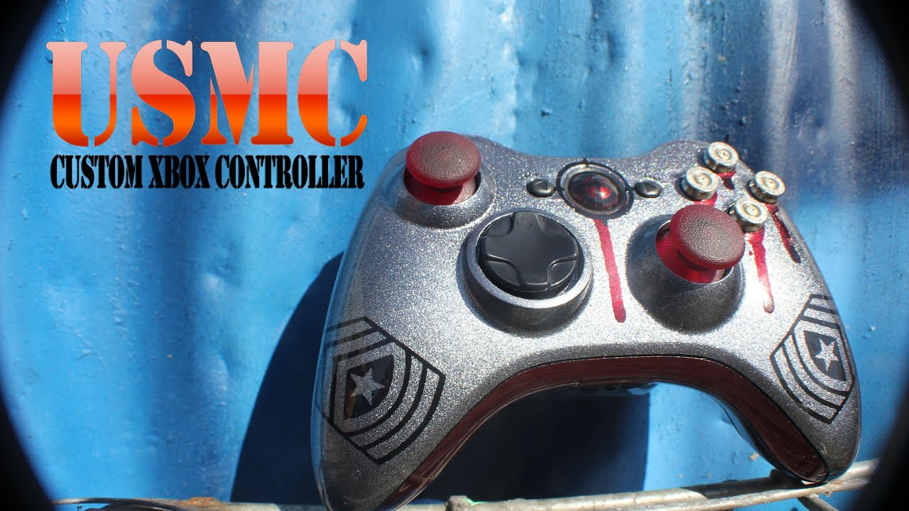 Usmc Custom Xbox Controller With Light Up Thumbsticks By Promodz