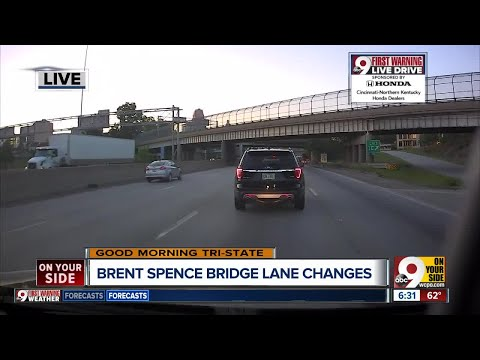 Brent Spence Bridge down to one lane southbound for the weekend