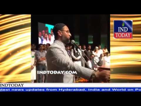 Asaduddin Owaisi Firing Speech In Lucknow
