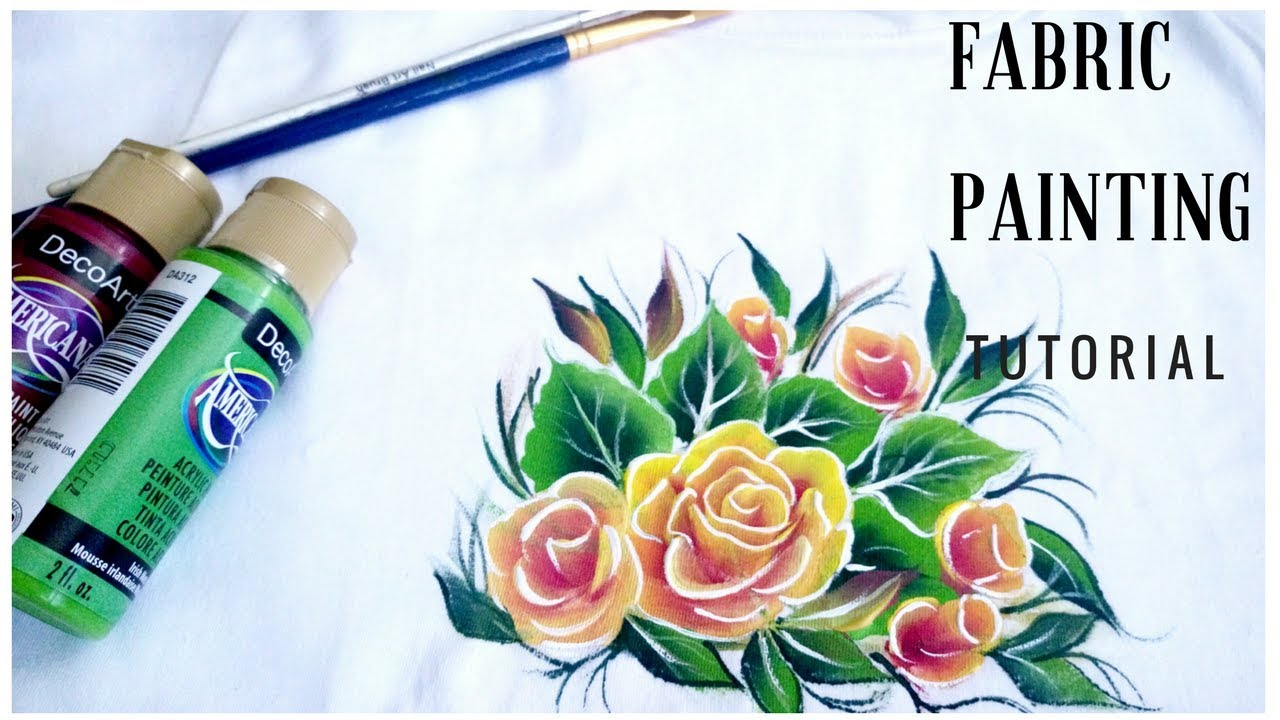 Fabric Painting One Stroke Painting Acrylic Painting Diy Youtube