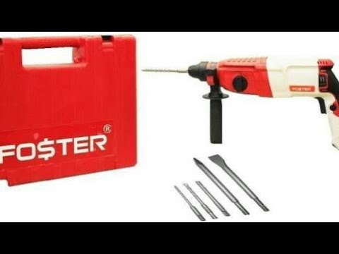 Foster FHD2-26 Drill machine power performance testing on hard stone and concrete block