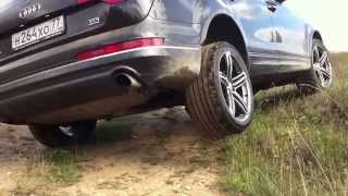 Audi Q7 3.0 TDi vs Nissan Pathfinder R51 2.5 TDi - 4x4 Off Road test(Audi Q7 3.0 TDI 2014 модельного года Резина: Hankook EVO S1 295/35 R21 Пневмоподвеска. VS Nissan Pathfinder 2.5 TD - 190 л.с. (R51) Комплектация..., 2014-08-30T10:17:18.000Z)
